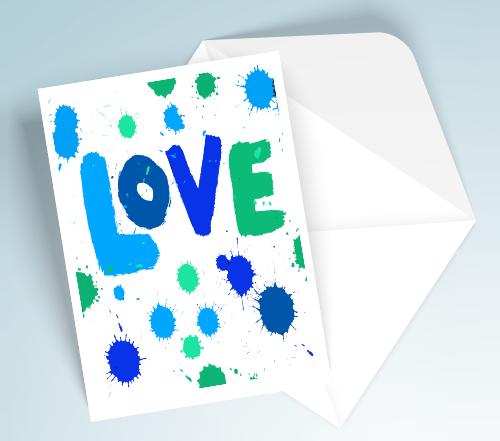 Blue Printable Love Cards