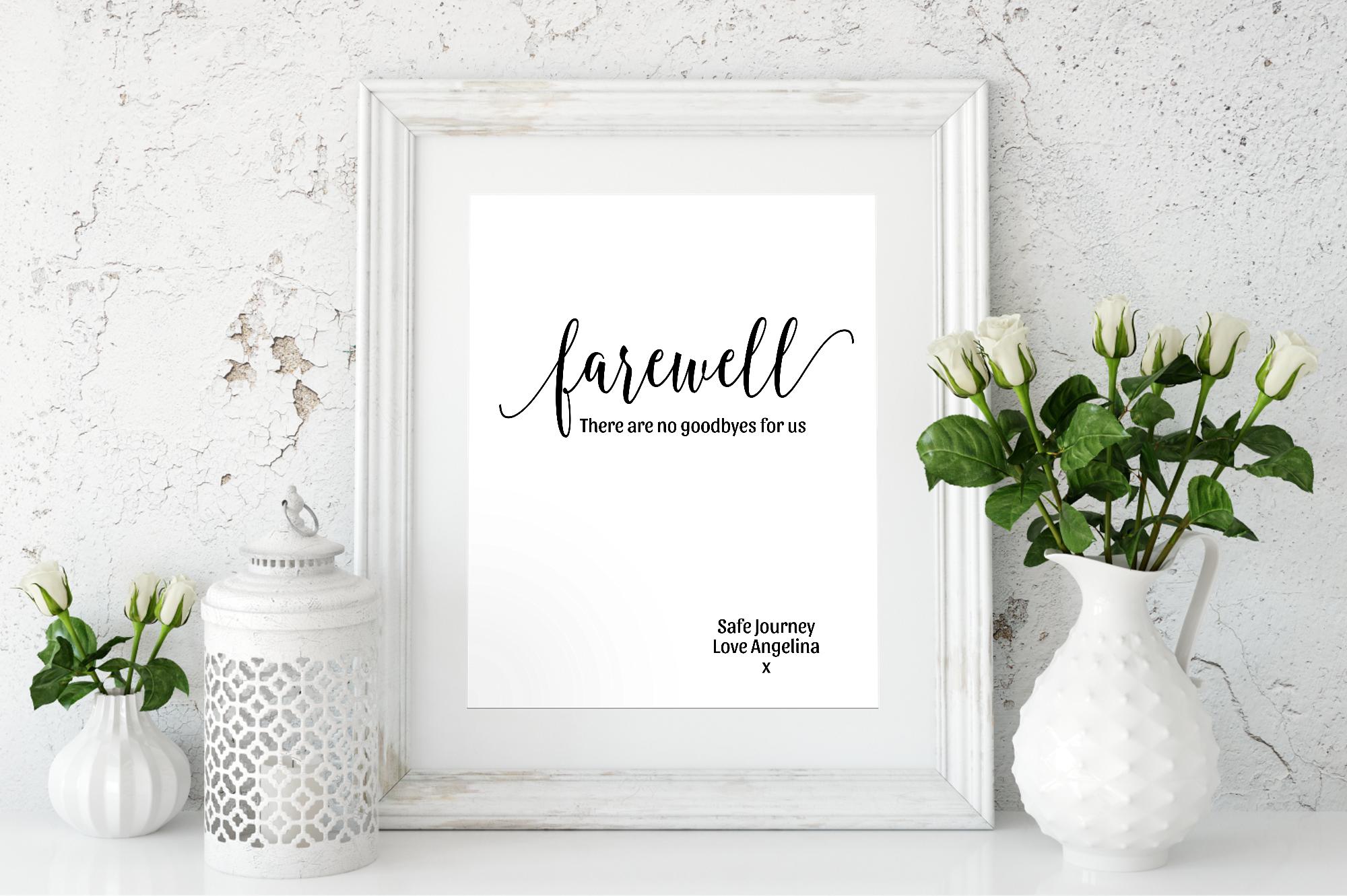 minimalist farewell posters