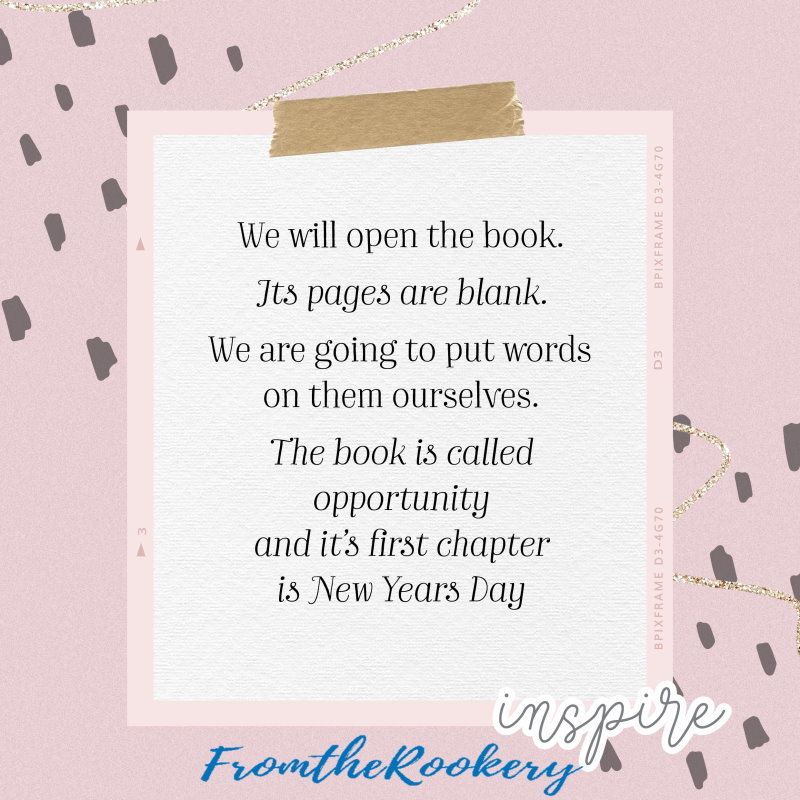 new year quote - we open the book