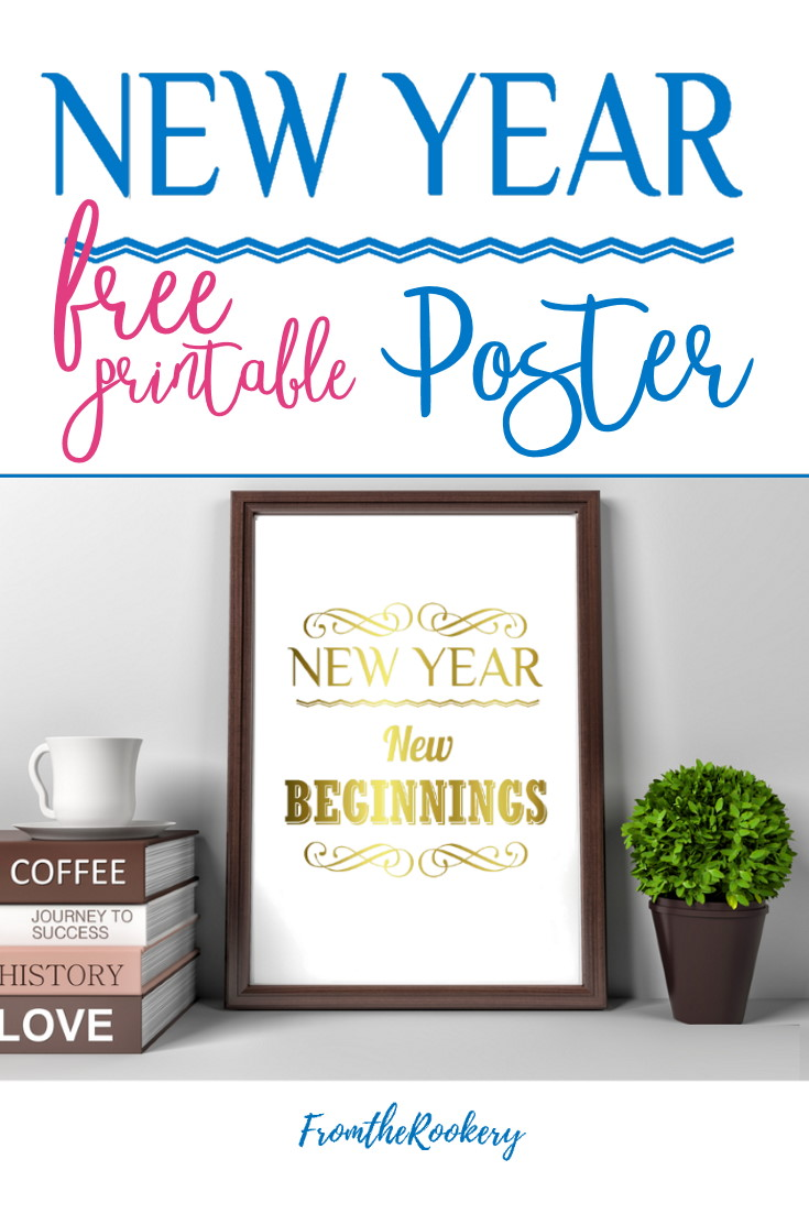 New Year Printable New Year New Beginnings