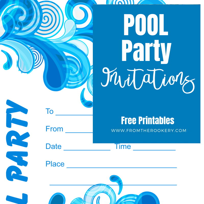 Free Printable Adult Pool Party Invitations