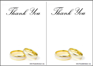 Printable Anniversary Thank You Cards