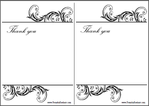 Free printable Wedding Anniversary Thank You Cards
