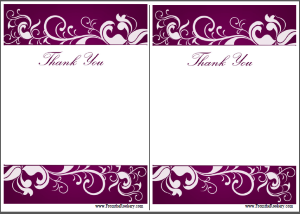 Wedding Anniversary Thank You Cards - Free