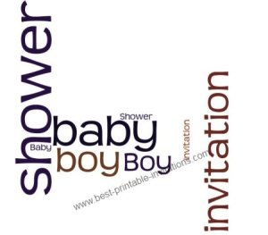 Baby Boy Shower Invitations - Free Printable Invitation Card