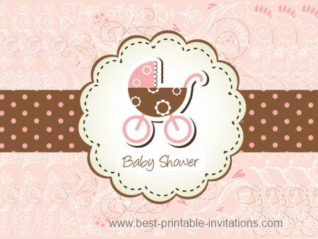 Beautiful baby shower invitation templates - free printable invites
