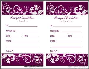 Free printable banquet invitation
