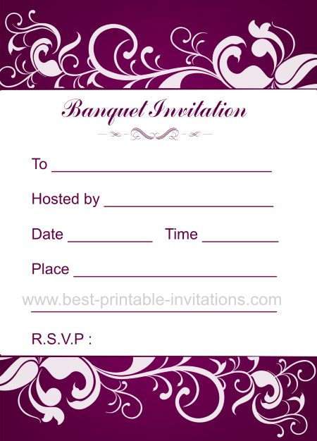 Banquet Invitation