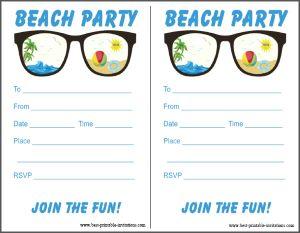 Free Beach Party Invitation