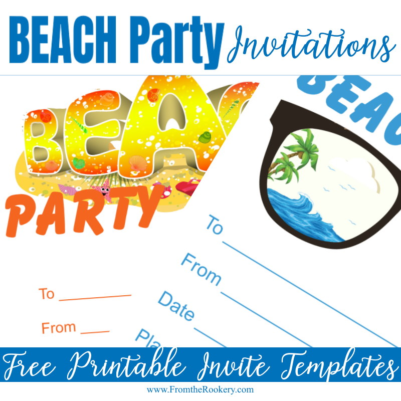 Free Printable Beach Party Invitation