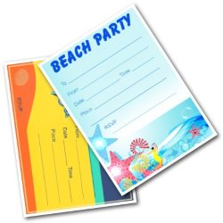 Beach and Pool Party Invitations for Kids - Free Printable