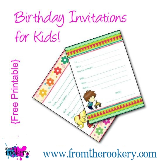 Birthday Invitations for Kids - Free Printable Party Invites