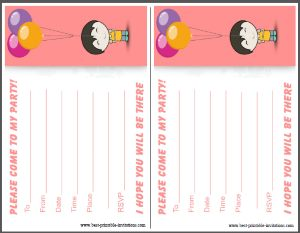 Kids Birthday Invitations Free
