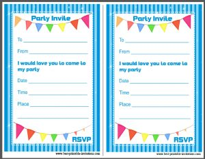 Free Birthday Invitations - Printable
