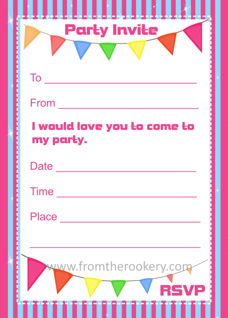 Free Birthday Invitations - Printable Party Invites