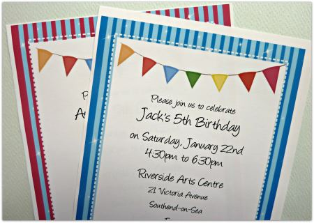 Kids Birthday Invitations - Printable