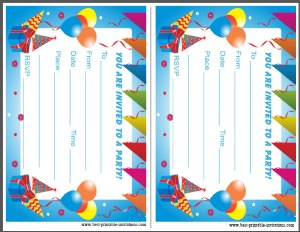 Printable Birthday Party Invitations for Kids