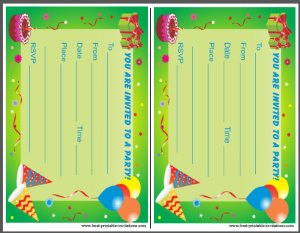 Free Birthday Party Invitations for Kids