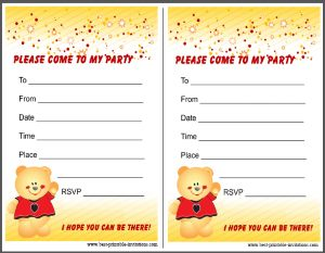 Printable Birthday Party Invites