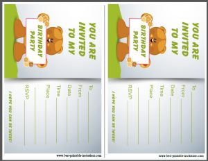 Free Kids Birthday Party Invites