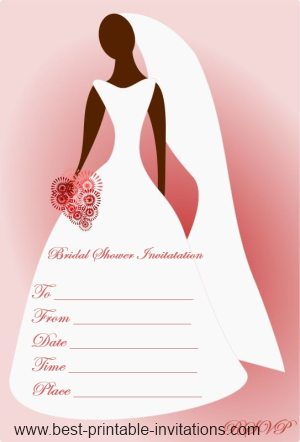 Blank Bridal Shower Invitations Free Printable Invites