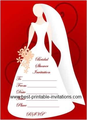 Blank Bridal Shower Invitations Free Printable Invites