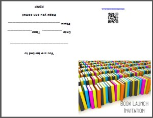 Printable Book Launch Invitation