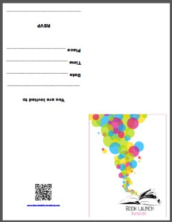 Book Launch Invitation - Free Printable Party Invites
