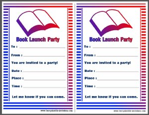 Book Launch Party Invites