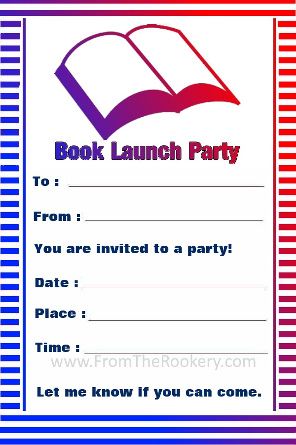 Free Printable Book Launch Party Invitation