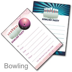 Ten Pin Bowling Invites - Free Printable Inviations