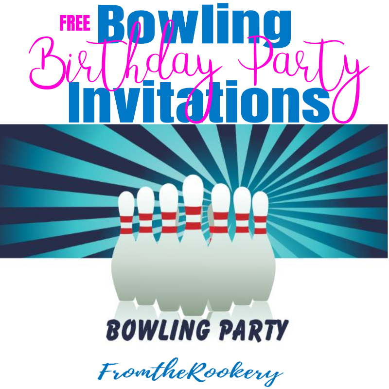 Bowling Birthday Party Invitations – Printable Bowling Party Invitations