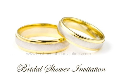 Free Bridal Invitation - wedding rings