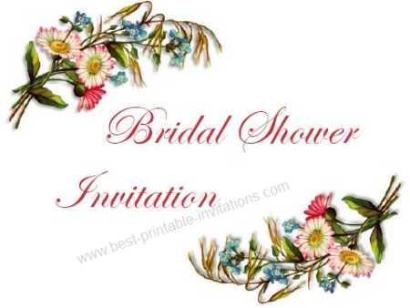 Bridal Shower Printable invitations - wildflower bouquet