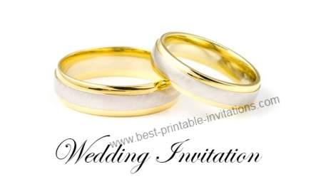 Budget Wedding Invitations - Free Printable invites