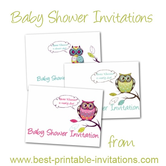 Cheap Baby Shower Invitations - Beautiful owl design