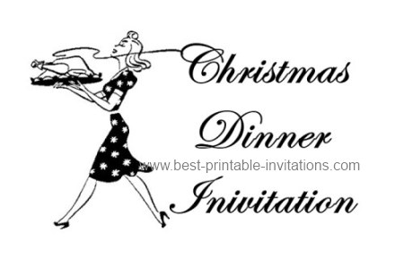 Free Printable Christmas Dinner Invitation