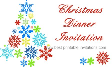 Christmas Dinner Invitation   Free Printable  Free Xmas Invitations