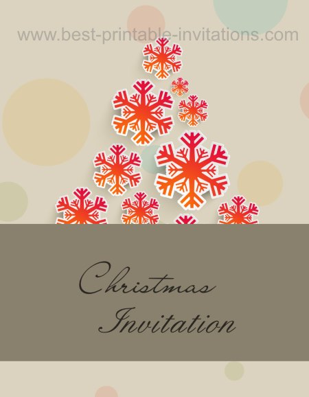 Christmas Invitation Cards - Christmas Tree Invite