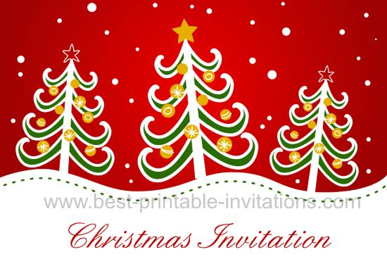 Free Printable Christmas Invitation Cards