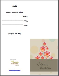 Foldable Christmas Invitation Card