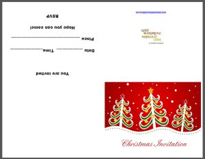 Xmas Invitation Card - Free Printable Invite
