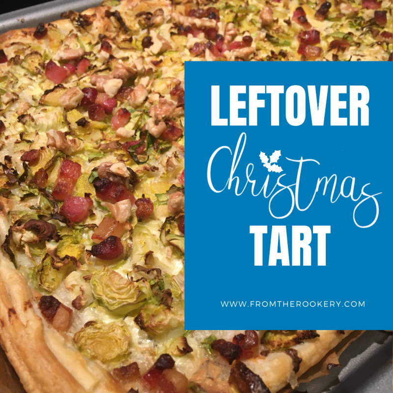 Christmas brussel sprout tart