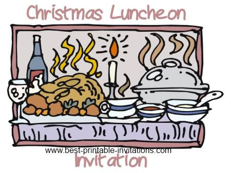 Free Printable Christmas Luncheon Invitation