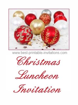 christmas printable invitations