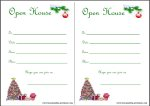 Free printable christmas open house invitations