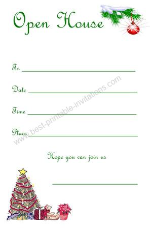 Christmas Open House invitations