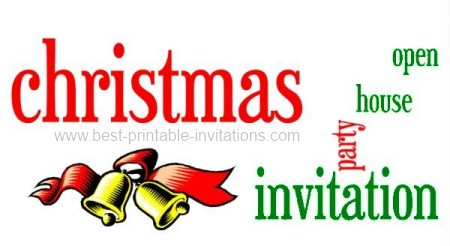 Free printable christmas open house party invitations