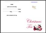 Christmas Tea Party Invitation thumbnail