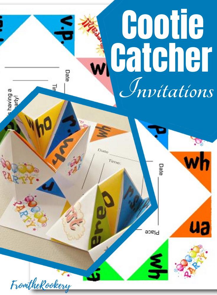Cootie Catcher Invitations